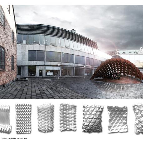 Röhsska Pavilion and Folding patterns